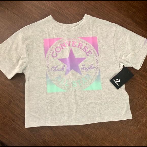 Converse Big Girls Boxy-Fit Logo Graphic T-Shirt